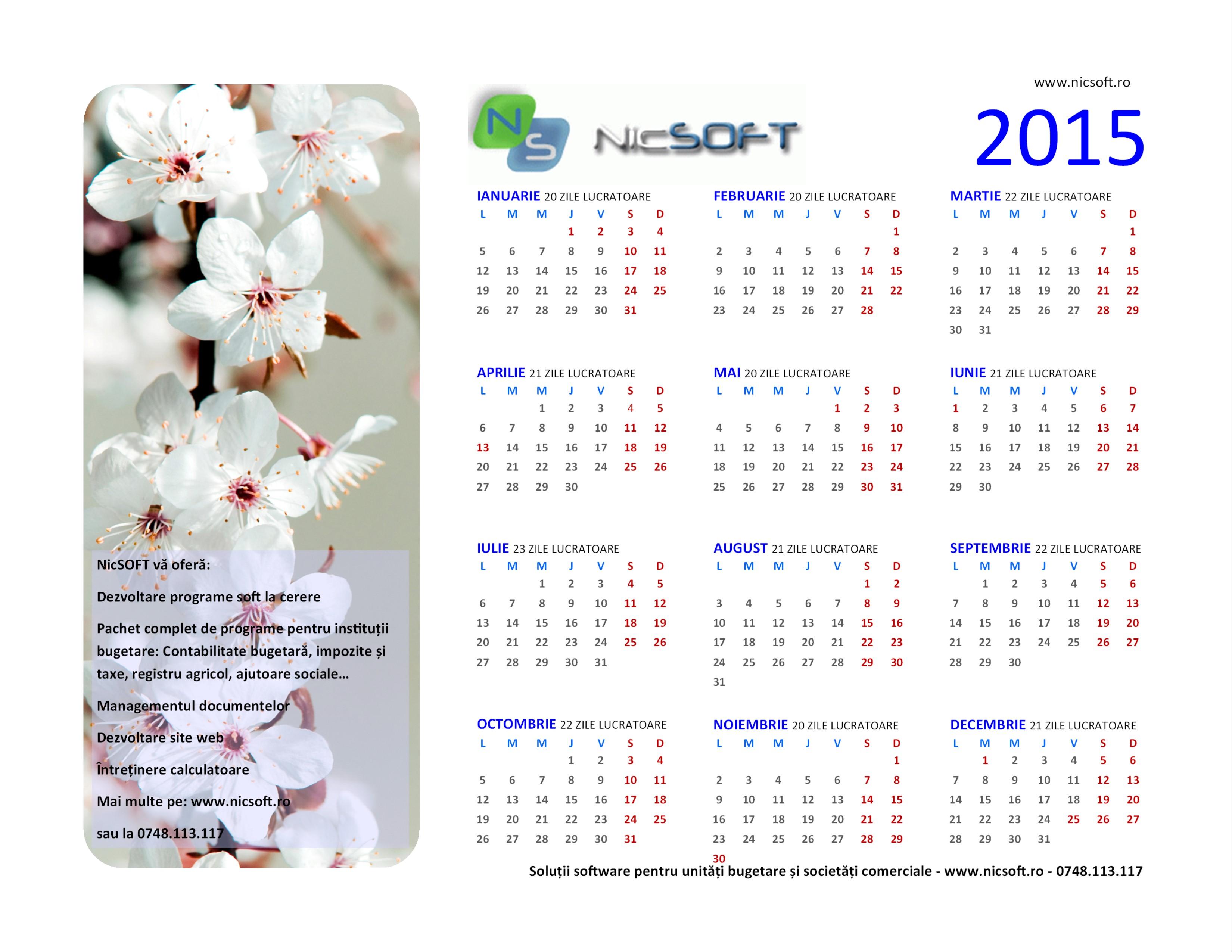 2015 20 zile lucratoare februarie 2015 20 zile lucratoare martie 2015 ...